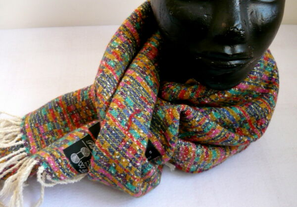 Sciarpa in pura lana  RAQAMA made in Italy