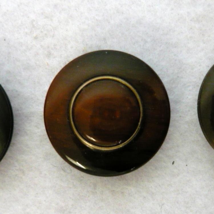 Bottoni anni 60 in metallo e resina