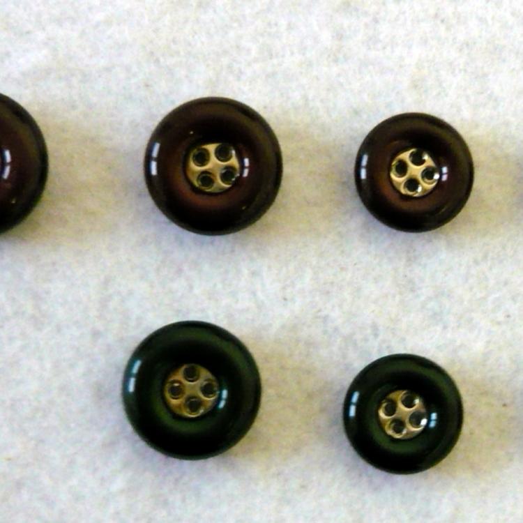 Bottone fine anni 70 resina e ABS