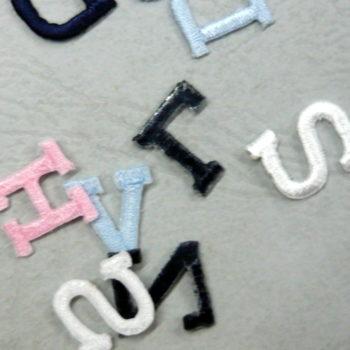 Letterine ricamate termo/adesive