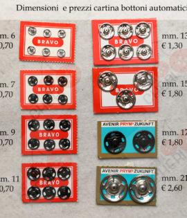 Bottoni automatici Prym in acciaio