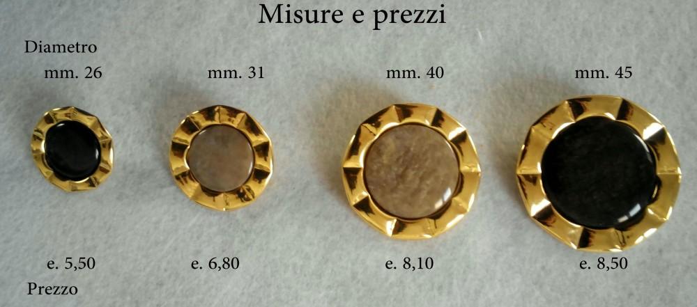 Bottone in metallo dorato b1002 4