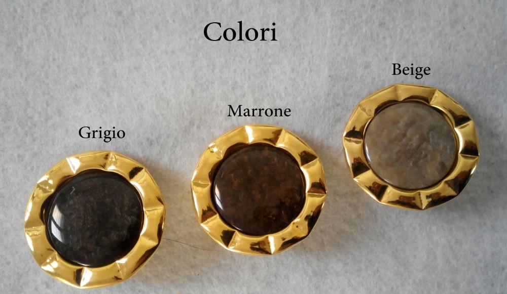 Bottone in metallo dorato b1002 5