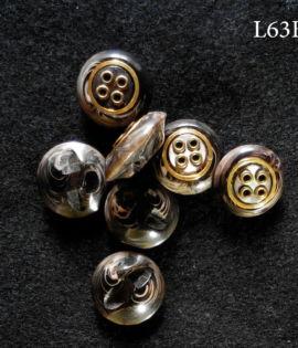 Set di 6 o 7 bottoni vintage anni 60  (art L63a/b)