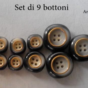 Set bottoni fine anni 60