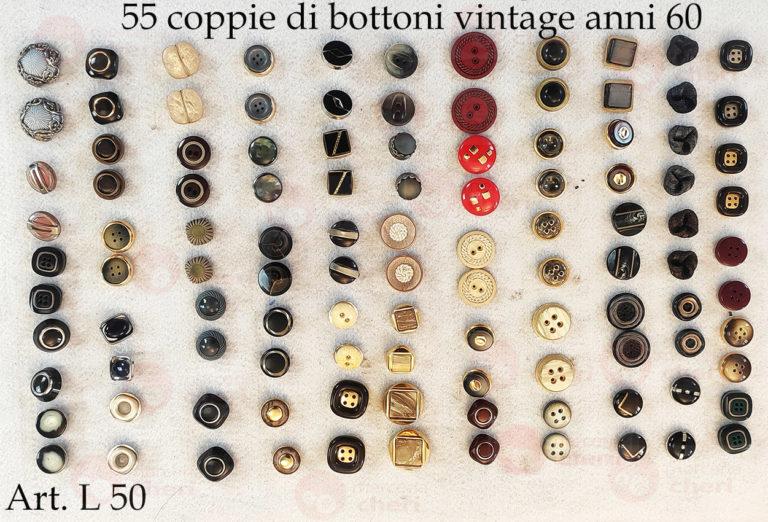 55 coppie di Bottoni vintage anni 60