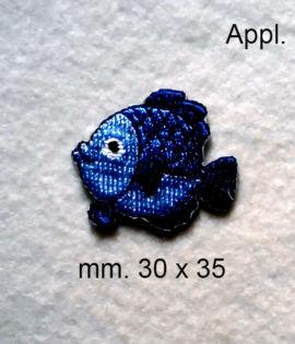 Pesciolino azzurro (Applicazione termo adesiva )