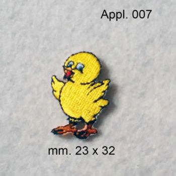 Pulcino (Applicazione termo adesiva )