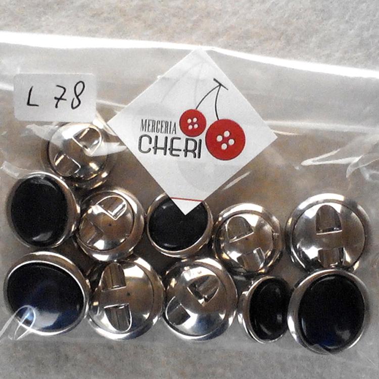 Set bottoni vintage anni 60