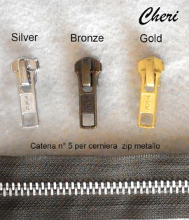 Cursori YKK per catena n°5 metallo
