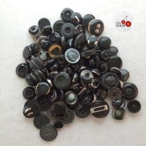 Bottoni Neri 100 Bottoni Vintage