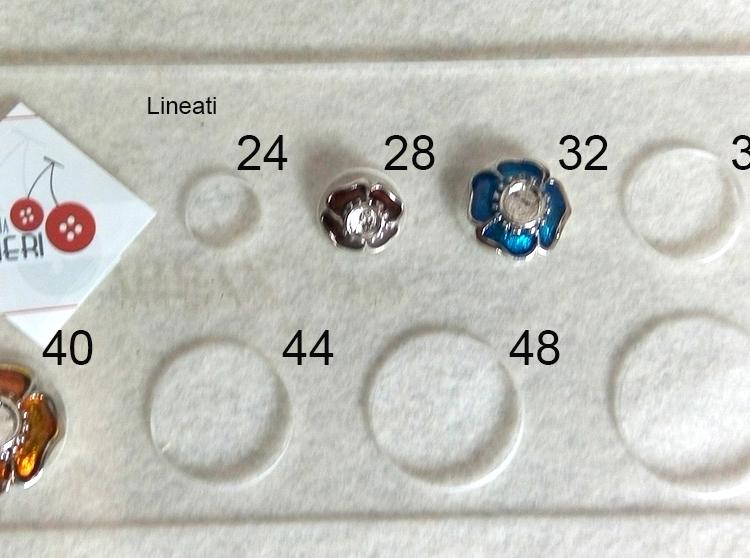 Bottone metallo smaltato
