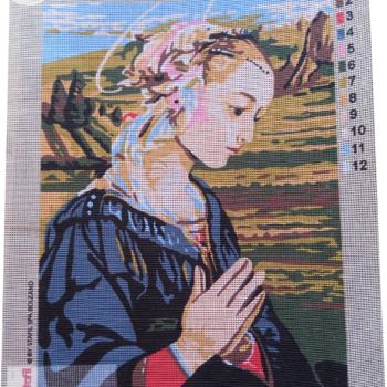 Canovaccio Madonna che prega cm 30x40
