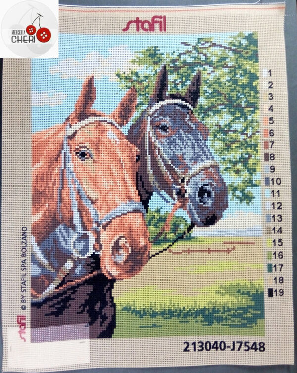 Cavalli Quadro mezzo punto