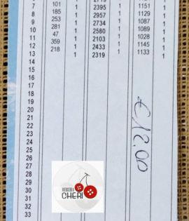 Canovaccio FIORI mezzo punto cm 16 x 38