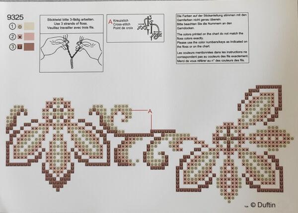 Tovaglia astriscia da ricamare cm 40 x 100 punto croce