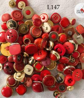 Vintage rosso 100 bottoni