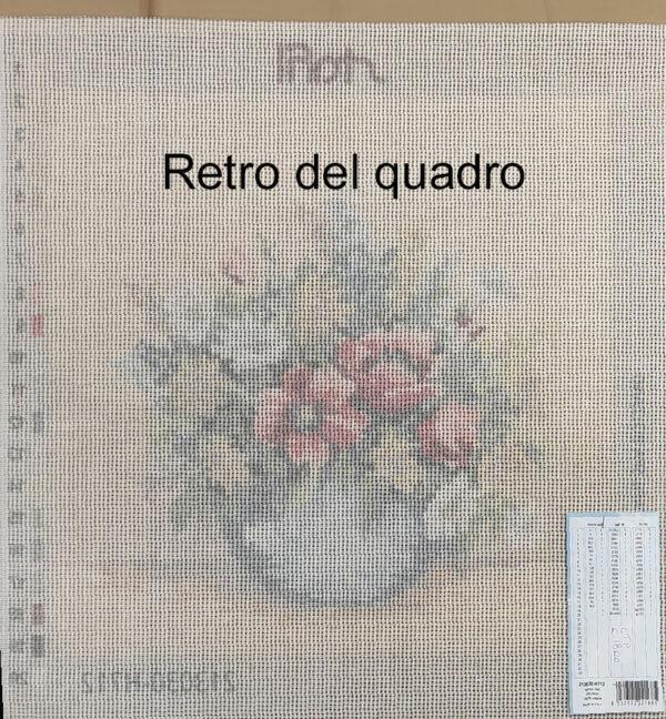 Vaso di fiori quadro mezzo punto cm 30 x 30
