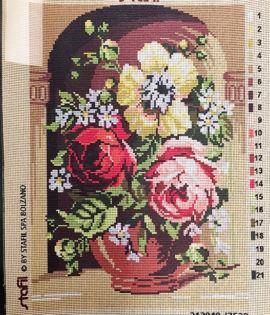 Vaso di fiori da ricamare cm 30x40 (Copia)