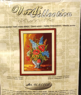 Fiori le viole Kit ricamo Collection d'art