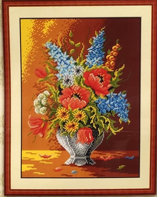 Kit ricamo Vaso di fiori cm 30 x 40