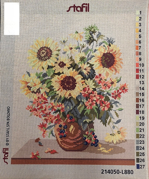 vaso di fiori da ricamare cm 40x50