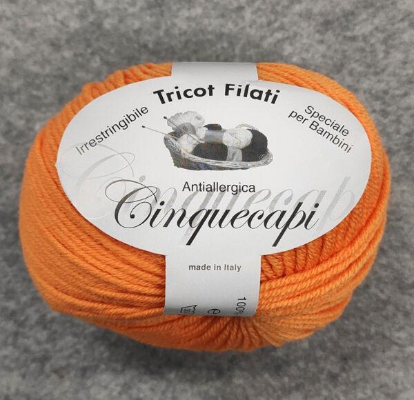 Gomitolo lana merinos cinque capi col. 90
