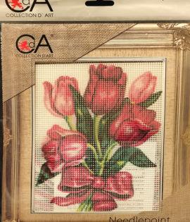 I tulipani set ricamo mezzopunto