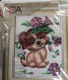 Collection d'art-Cagnolino con i fiori