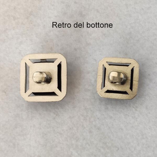 Bottone quadrato vintage anni 70