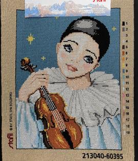 Canovaccio cm 30x40 Pierrot con violino