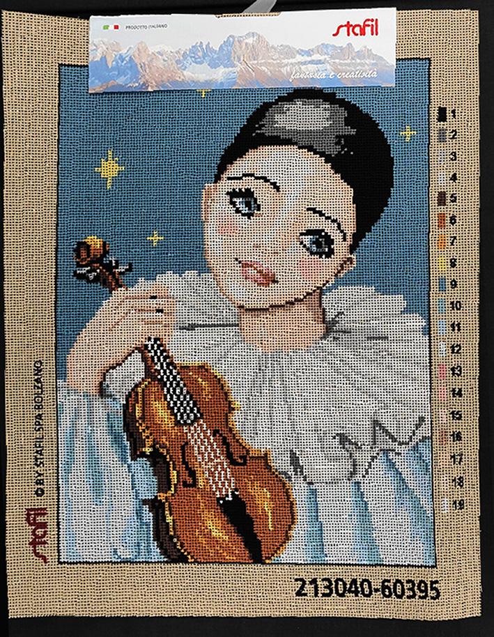 Pierrot con violino
