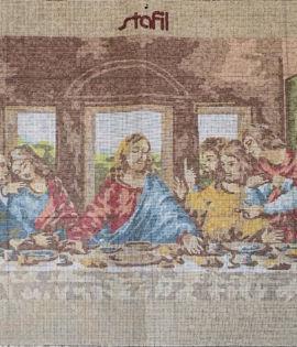Quadro mezzo punto Ultima cena cm 40 x 90