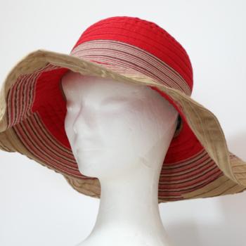 Cappello da spiaggia Rosso e Beige
