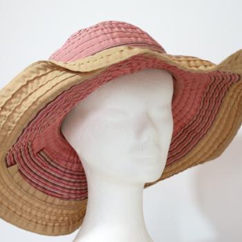 Cappello da spiaggia Rosa e Beige