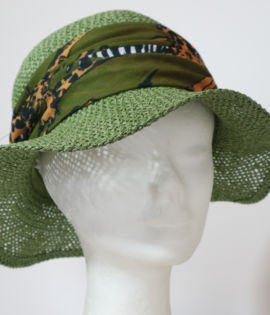 Cappello da spiaggia traforato Verde Salvia