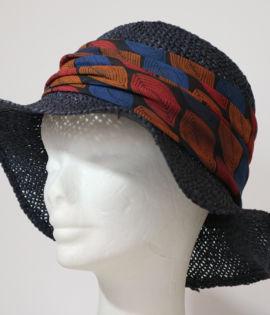 Cappello da spiaggia traforato Blu Navy