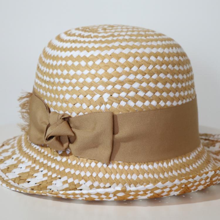 Cappello da passeggiata traforato Paglia con fiocco