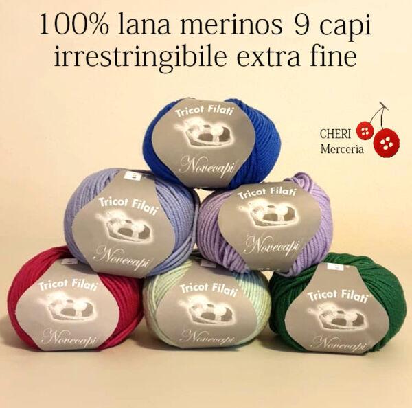 10 gomitoli lana merinos  extra fine 9 capi