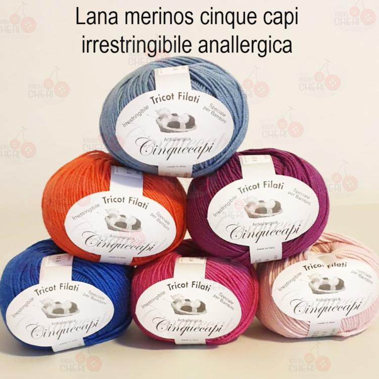 Lana merinos Cinque Capi Made in Italy