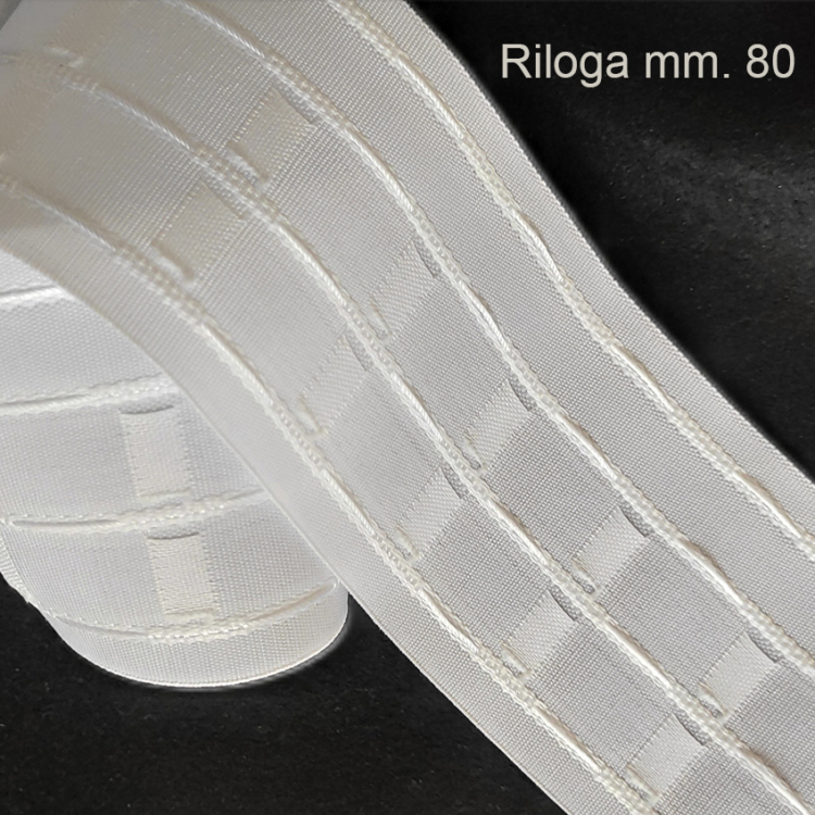 Fettuccia arriccia tende mm. 80