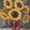Vaso di girasoli Canovaccio cm 40 x 50