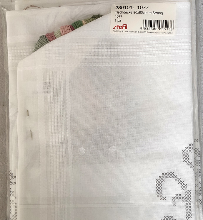 Tovaglia per ricamo punto croce (kit completo)
