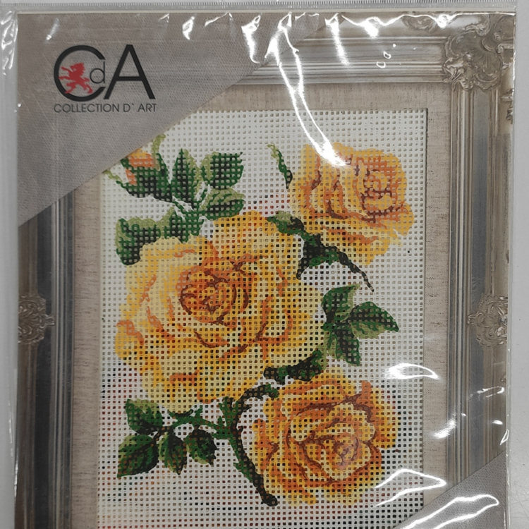 Collection d'art- immagine prestampata rose gialle