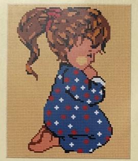 Tapestry kit Bimba che prega