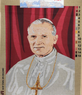 Canovaccio cm 40 x 55 Papa Wojtyla