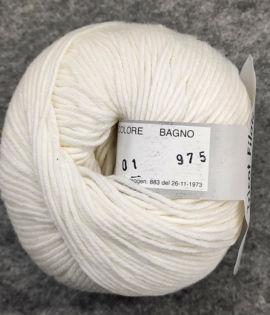 Gomitolo lana merinos cinque capi bianco