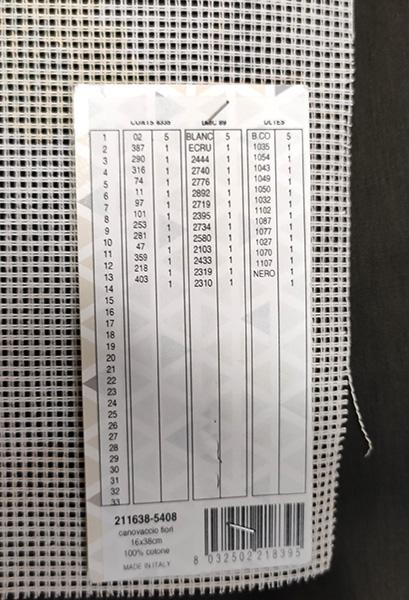 FIORI da ricamare a mezzo punto cm 16 x 38