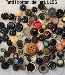L156 Bottoni vintage 100 pezzi anni 60 70 80