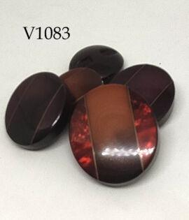 Bottone vintage ovale anni 60